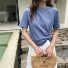 短款上衣 打結t恤短袖設計感女 短款女夏高腰露臍上衣-Ballet朵朵