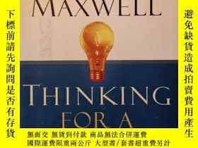 二手書博民逛書店thinking罕見for a change 約翰 麥克斯韋爾名作 思變Y227053 john maxwel