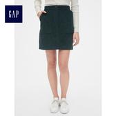 Gap女裝 燈芯絨舒適包臀半身裙 493733-鬆藍色