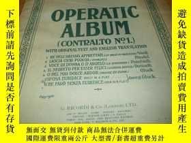 二手書博民逛書店原版老樂譜---Operatic罕見Album---8開---具