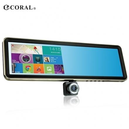 Buy917 【CORAL】 TP968 後視鏡型多功能導航及行車紀錄儀 旗艦版(送16G記憶卡)