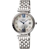 母親節廣告款 Standel Luxury 詩丹麗極光系列真鑽女錶-珍珠貝x銀/32mm 5S1501-121DS-WM