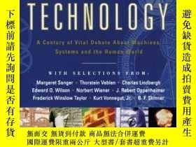 二手書博民逛書店Visions罕見Of Technology: A Century Of Vital Debate About M