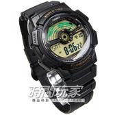 CASIO卡西歐 電子錶 復刻金 黑色橡膠錶帶 48mm 男錶 AE-1100W-1B  AE-1100W-1BVDF