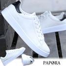 男休閒鞋.舌綁帶男休閒鞋小白鞋【K710】白黑/白