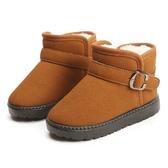 Pr 兒童雪靴冬季新款棉鞋加絨加厚女童短靴男童防滑靴子