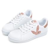 PLAYBOY 簡約兔頭休閒貝殼鞋2.0-白玫瑰金(Y6726)