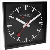 【萬年鐘錶】MONDAINE 瑞士國鐵立方鐘-黑