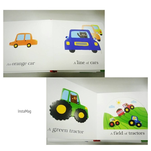 【幼兒感官認知書】A TRAFFIC JAM OF TRUCK /硬頁觸摸 《主題: 交通工具.量詞.形容詞》