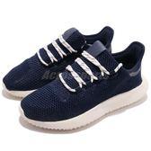 adidas 休閒鞋 Tubular Shadow J 藍 白 針織鞋面 運動鞋 女鞋 大童鞋 小350【PUMP306】 BB6750