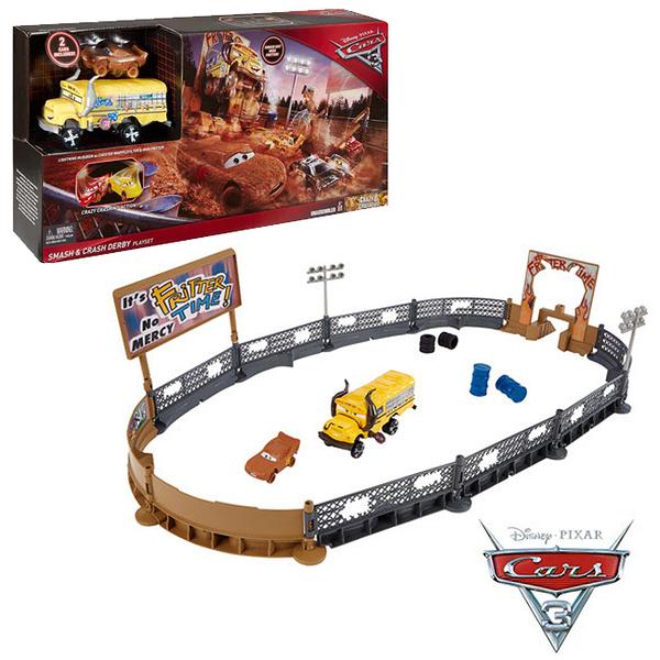 【美國 Disney 迪士尼】汽車總動員 Cars3 火桶噴射賽車遊戲組 DXY95