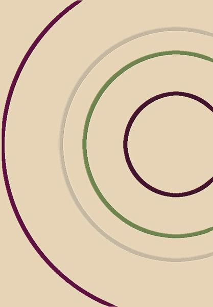 范登伯格 堤香 簡約時尚地毯-圓圈-200x290cm