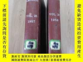 二手書博民逛書店外文書罕見ANIMAL BREEDING ABSTRACTS 【 VOL.25 1957、VOL.26 1958】