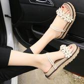 夏季新款兩用拖鞋花朵涼鞋時尚外穿沙灘鞋平底舒適軟底涼拖女 sxx2212 【雅居屋】