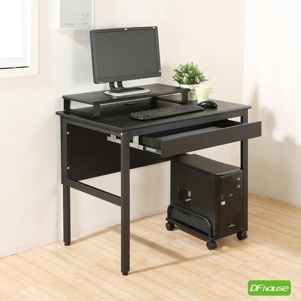 《DFhouse》頂楓90公分工作桌+1抽屜+主機架+桌上架 工作桌 電腦桌 辦公桌 書桌椅 臥室