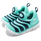 Nike 毛毛蟲鞋 Dynamo Free TD 綠 藍 慢跑鞋 嬰兒鞋 學步鞋 小童鞋【PUMP306】 343938-310