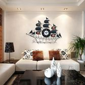 (百貨週年慶)創意鐘錶掛鐘客廳現代簡約時鐘掛錶個性靜音石英鐘一帆風順xw