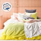 【Artis】台灣製_精梳純棉 雙人床包組「梅爾檸檬-黃」透氣舒柔四季適用