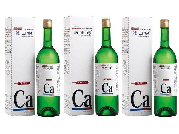 AA鈣杏懋 藤田鈣液劑 750ml   三罐 贈全家禮券300元  紐力活的另一種好選擇