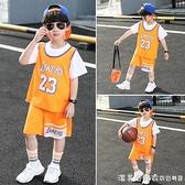 男童夏裝2021新款洋氣兒童夏季短袖運動中大童帥氣速干套裝韓版潮 美眉新品