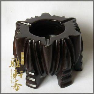 越南特產紅木工藝品*雞翅木*煙灰缸*樹鼎造型*大號