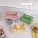 韓國迷你折疊塑膠收納盒學生桌面整理手帳膠帶文具護膚品小置物籃 88609