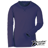 PolarStar 中性針織圓領保暖衣『藍紫』P16225 台灣製造│排汗│透氣│保暖│刷毛衣│休閒