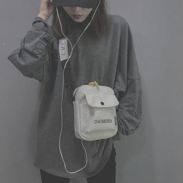 新款斜挎韓版百搭復古時尚學生  同款小黑帆布小包包女