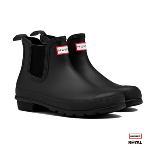 Hunter Boots 新竹皇家 Dark Sole Chelsea 黑色 霧面 短雨靴 女款 NO.I6898