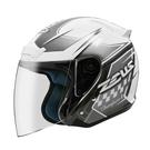 【東門城】ZEUS ZS-609 I18 (白/ 銀) 四分之三罩安全帽