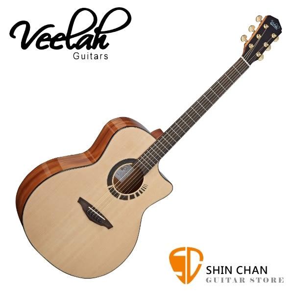 Veelah 吉他 V7-GAC 全單板 民謠吉他-附贈Veelah木吉他硬盒 GA桶身 台灣公司貨 Veelah V7GAC 木吉他