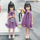 女童無袖公主裙連身裙