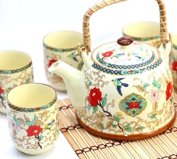 景德鎮陶瓷7頭禮品家用提梁大茶具套