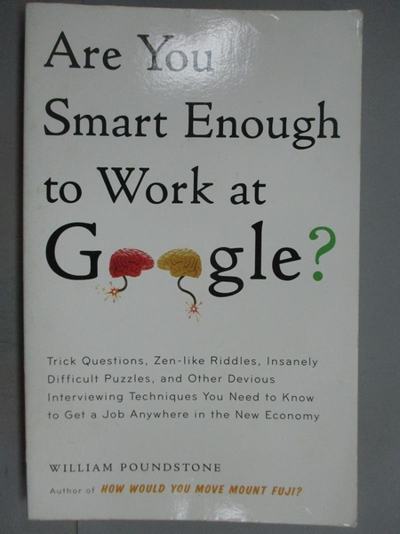 【書寶二手書T9/財經企管_KLH】Are You Smart Enough To Work At Google?_Wi