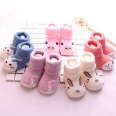 嬰兒襪子秋冬純棉0-6-12個月新生加厚保暖1-3歲寶寶中筒鬆口無骨 薇薇
