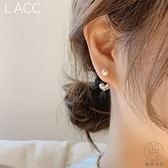 簡約925銀針水鉆小愛心小珍珠耳釘耳環耳墜耳釘【貼身日記】