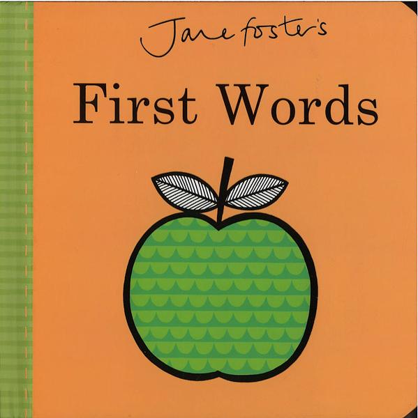 【高質感幼兒認知書】JANE FOSTER'S FIRST WORDS /硬頁書 ※北歐風.圖騰設計大師作品 ※