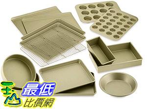 [美國直購] Williams-Sonoma Goldtouch Nonstick 15-Piece Bakeware Set 烘培用具