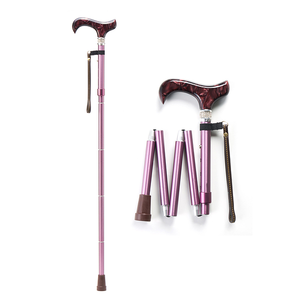 Merry Sticks 悅杖 皇家系列施華洛世奇水鑽 EZjoint折疊手杖-鑽酒紅 (單支)【杏一】