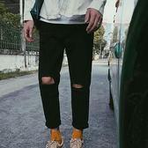 韓版潮流學生修身直筒百搭牛仔褲