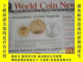 二手書博民逛書店World罕見Coin News(Vol.28,No.8)(Au