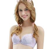 思薇爾-朵朵雲輕甜風系列A-C罩軟鋼圈印花包覆內衣(縞紫色)