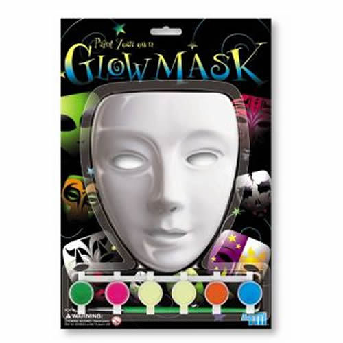 【4M】03333 美勞創意-百變螢光面具 Paint Your Own Glow Mask