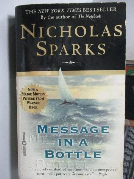 【書寶二手書T9/原文小說_OUA】Message in a Bottle_Nicholas Sparks