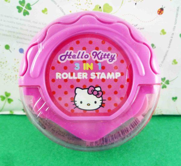 【震撼精品百貨】Hello Kitty 凱蒂貓~KITTY滾輪印章-圓形粉(3in1)