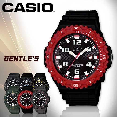 CASIO手錶專賣店 卡西歐 MRW-S300H-4B 男錶 太陽能運動指針 壓克力玻璃 可旋轉錶圈 膠質錶帶