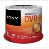 新竹【超人3C】SONY 16X DVD-R 光碟片 50入桶裝 支援速度1X~16X