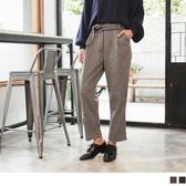 《BA3820-》混色調附綁帶造型寬鬆闊腿褲 OB嚴選