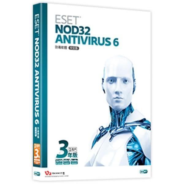 【台中平價鋪】全新 ESET NOD32 Antivirus 6.0 單機3年 盒裝