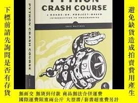 二手書博民逛書店Python罕見Crash Course, 2nd Edition 英文原版 Python編程:從入門到實踐(第二